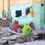 Washing Clothes in Bundi
