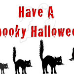 cats in a line with &#x27;Have A Spooky Halloween&#x27;