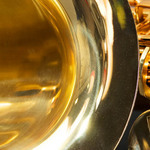 close up photo of a saxophone