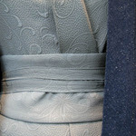 photo of a dark blue and light blue grey kimono