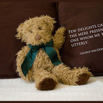 photo of a soft toy bear with a quote about trust from George MacDonald