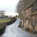 country road leading past Fountain's Abbey