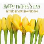 daffodils and text 'Happy Father's Day: Fathers deserve flowers too'